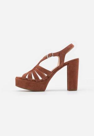 VABEL  - High heeled sandals - tiffany