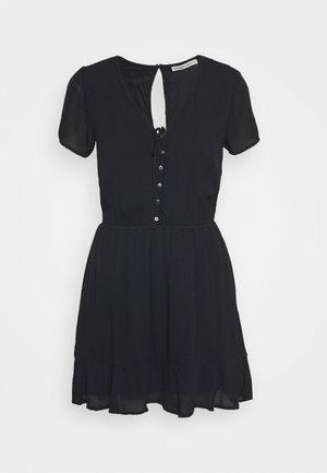 CHASE EASY WAIST - Shirt dress - black