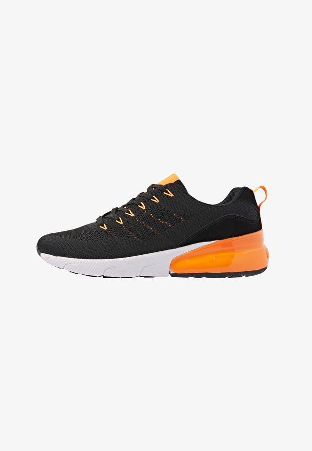 TURON - Sneakers basse - black/neon orange