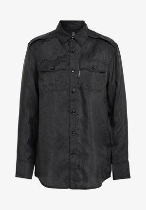 3301 REGULAR SHIRT - Overhemdblouse - dk black