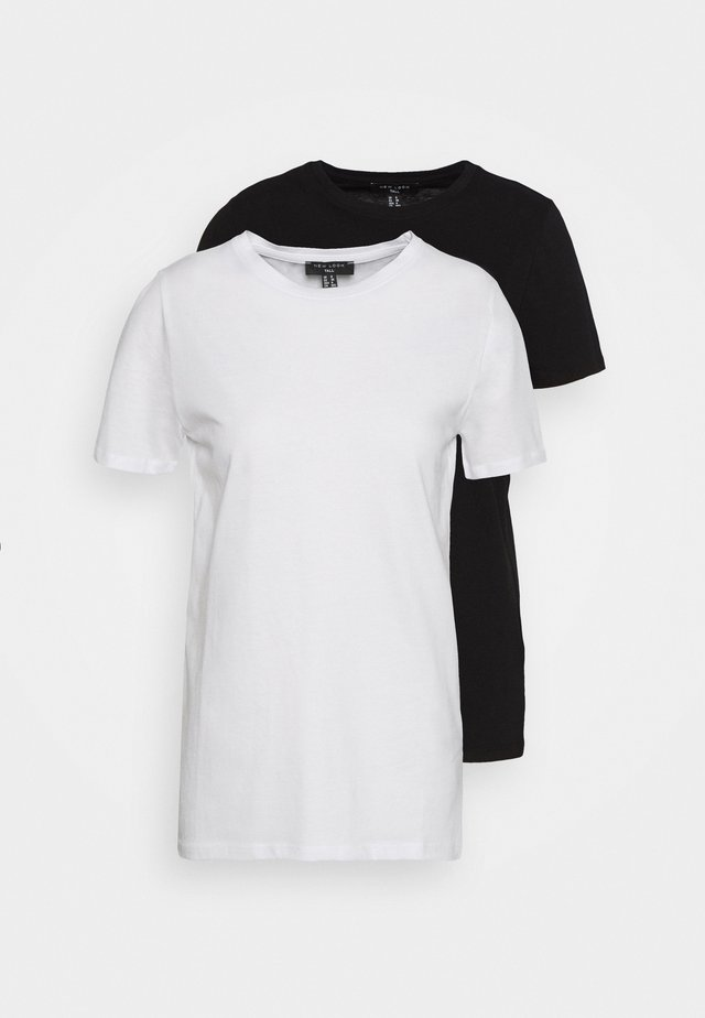 ORGANIC TEE 2 PACK - T-shirt basic - black/white