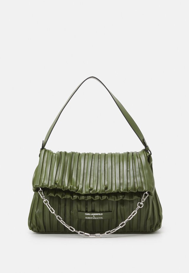 SUSTAINABLE AMBER VALLETTA KLXAV PLEATED FOLDED TOTE - Cabas - green