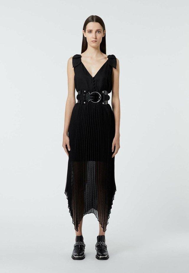 PLISSÉE À BRETELLES - Day dress - black