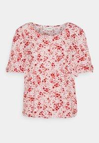 JDY - JDYGAIA PUFF  - Camiseta estampada - cloud dancer/mars red - 4