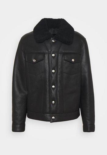 TRUCKER - Leather jacket - noir