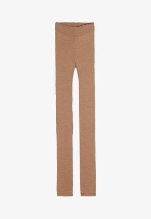 LEGGINGS AUS WOLLE UND SEIDE - Leggings - Stockings - hautfarbe (sahara) - 2328 - cammello