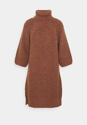 YASBRAVO ROLL NECK DRESS - Jumper dress - burlwood