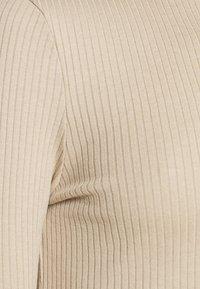 Vero Moda - VMMIA HIGHNECK BODY - Long sleeved top - beige - 5