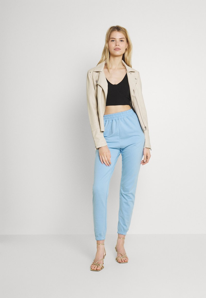 Missguided - BASIC JOGGERS 2 PACK - Tracksuit bottoms - blue bell/snow white