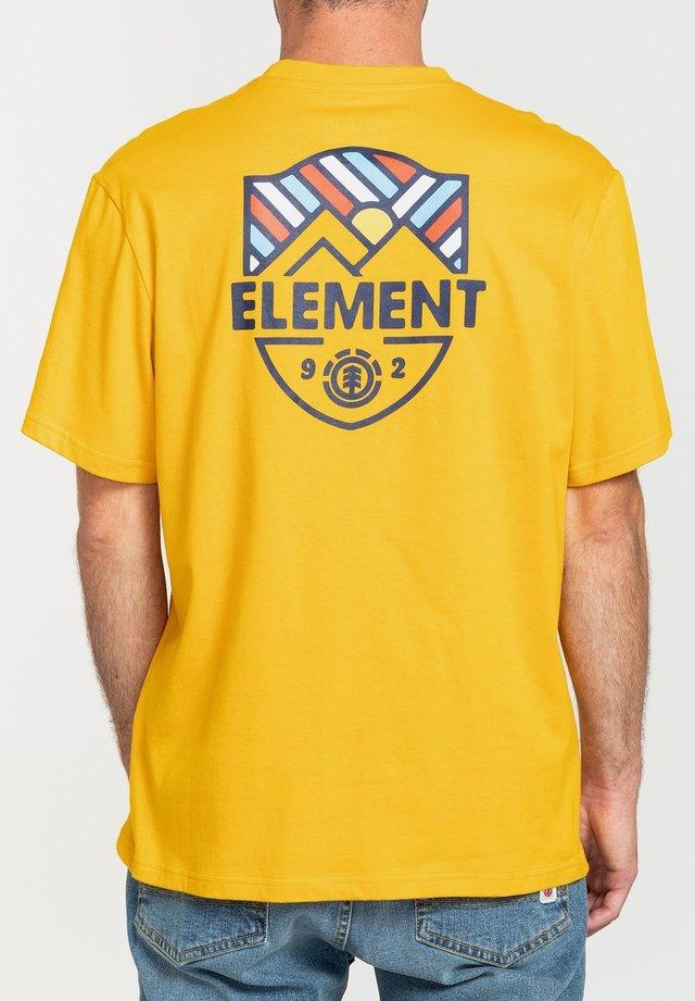 T-shirt print - old gold