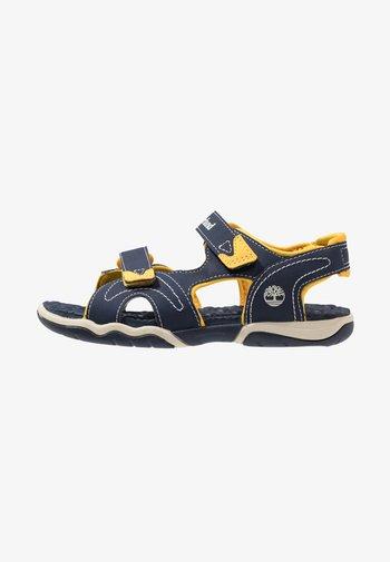 ADVENTURE SEEKER 2 STRAP - Walking sandals - navy/yellow