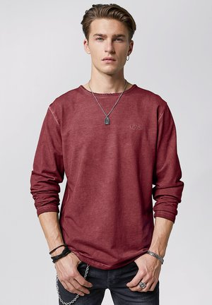 SCOTTY - Long sleeved top - vintage dark red