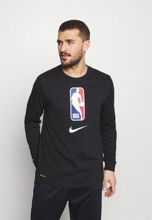 NBA LONG SLEEVE - Bluzka z długim rękawem - black