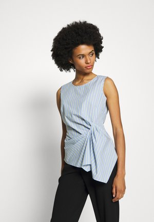 EXCLUSIVE STRIPED DRAPEY BLOUSE TOP - Blouse - acapulco