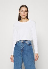 Selected Femme - SLFSTANDARD TEE - Long sleeved top - bright white - 0