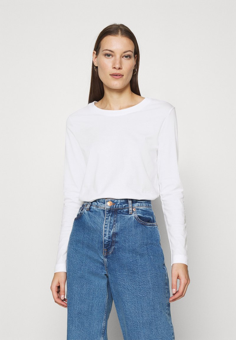 Selected Femme - SLFSTANDARD TEE - Long sleeved top - bright white