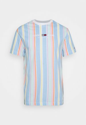 STRIPE TEE - Print T-shirt - light powdery blue