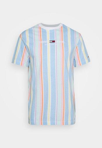 STRIPE TEE - T-shirt imprimé - light powdery blue