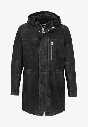 MIT KAPUZE - Short coat - black