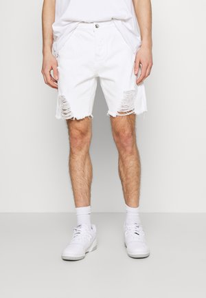 DISTRESSED - Jeansshort - white