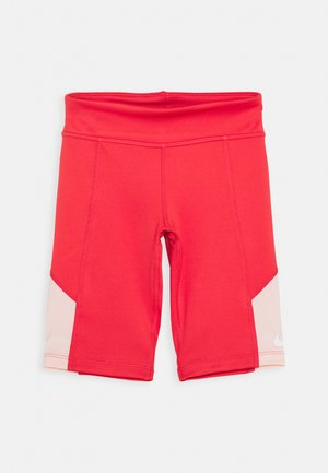 TROPHY BIKE - Leggings - track red/washed coral/white