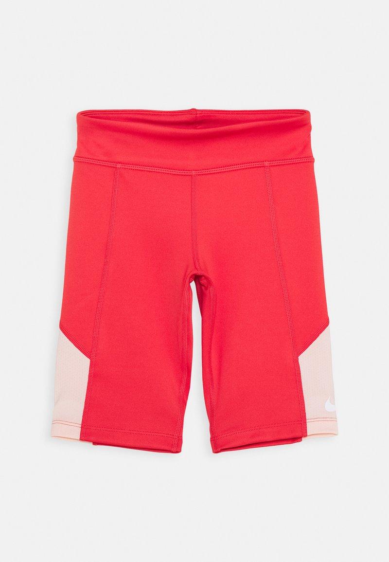 Nike Performance - TROPHY BIKE SHORT - Punčochy - track red/washed coral/white