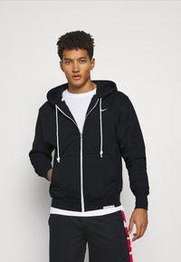 Nike Performance - ISSUE HOODIE - Zip-up sweatshirt - black/pale ivory - 0
