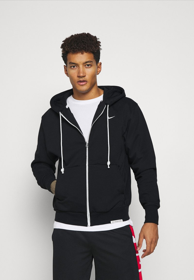 Nike Performance - ISSUE HOODIE - Zip-up sweatshirt - black/pale ivory