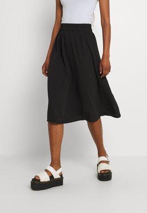PCFALISHI SKIRT - Áčková sukně - black solid