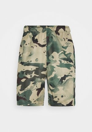 DRY SHORT CAMO - Pantalón corto de deporte - sequoia/black