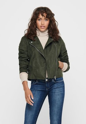 Faux leather jacket - forest night