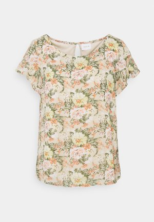 VIMILINA FLOWER - Print T-shirt - sandshell