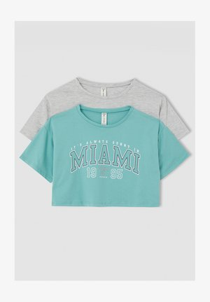 2 PACK - Print T-shirt - turquoise