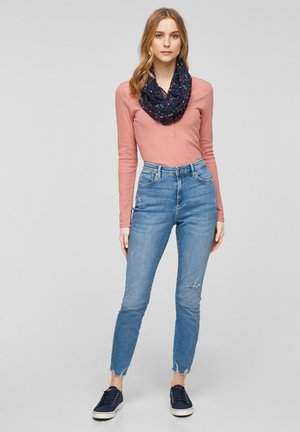 Snood - navy multicolor floral aop