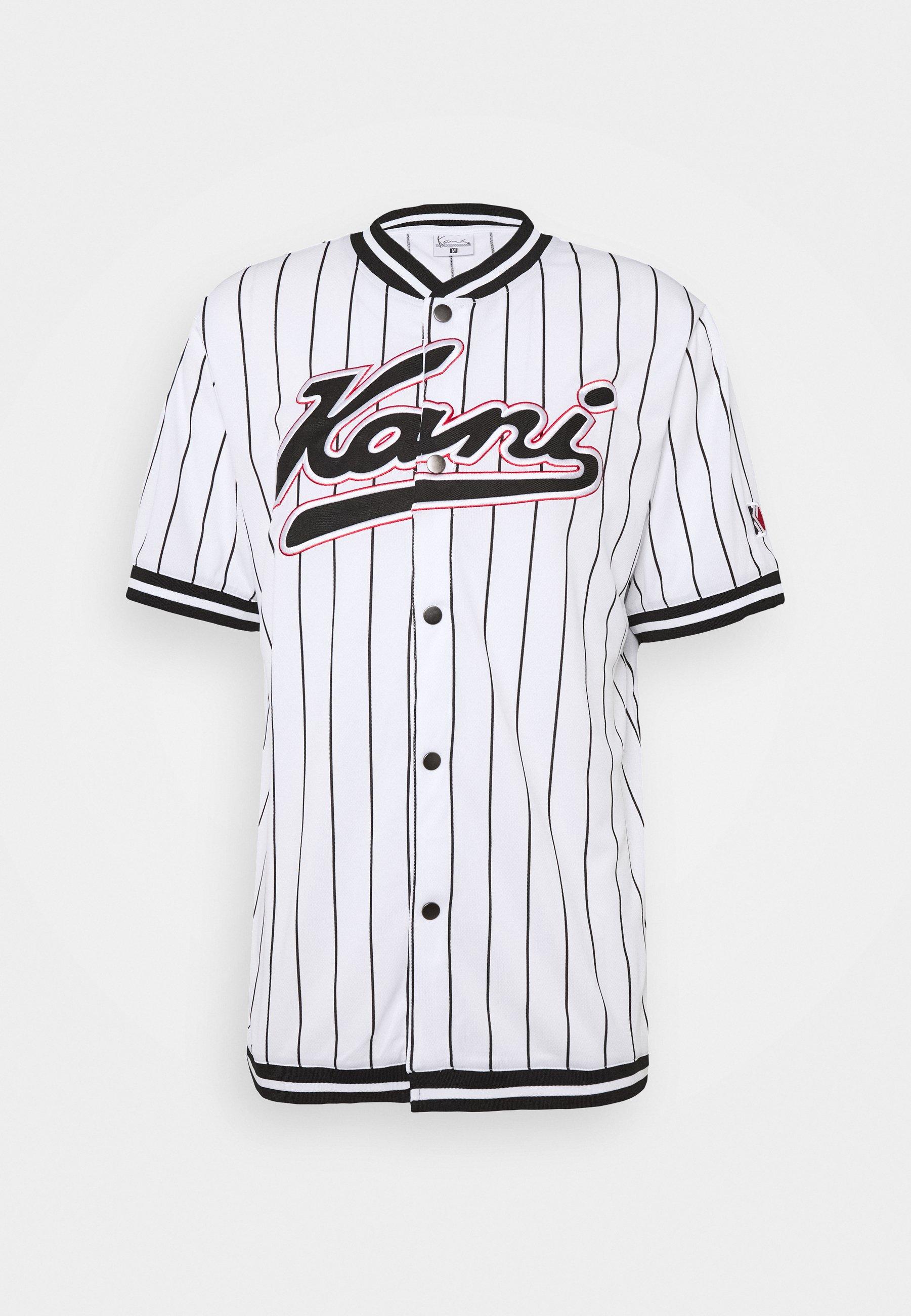 Fubu Varsity baseball jersey Black//Red//White