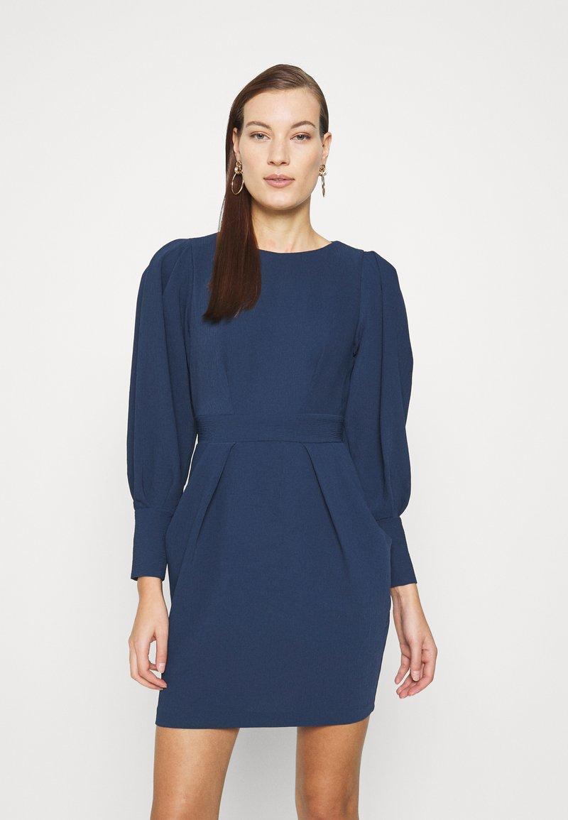Closet - LONG SLEEVE TULIP DRESS - Shift dress - navy