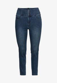 Sheego - Slim fit jeans - dark blue denim - 4