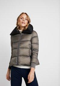 Cross Sportswear - A-SHAPE JACKET - Kurtka puchowa - steel grey - 0