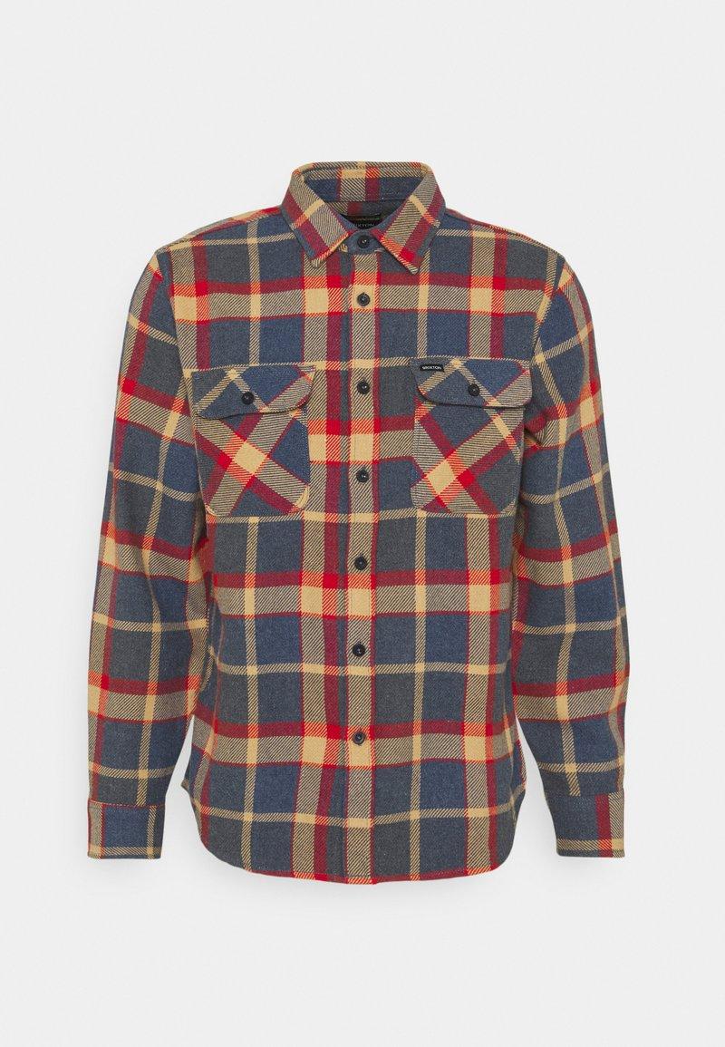 Brixton - BOWERY - Shirt - blue/red