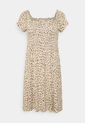 MINI DRESS - Vestito di maglina - neutral cheetah