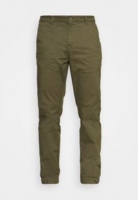 ONSCAM AGED CUFF - Trousers - olive night