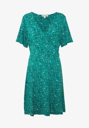 WRAP DRESS - Jerseykjole - teal green