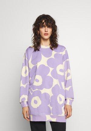 HUHTASINI UNIKKO - Sweatshirt - light beige/lavender