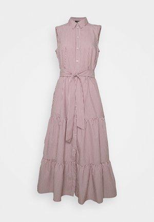DRESS - Skjortekjole - dark cherry