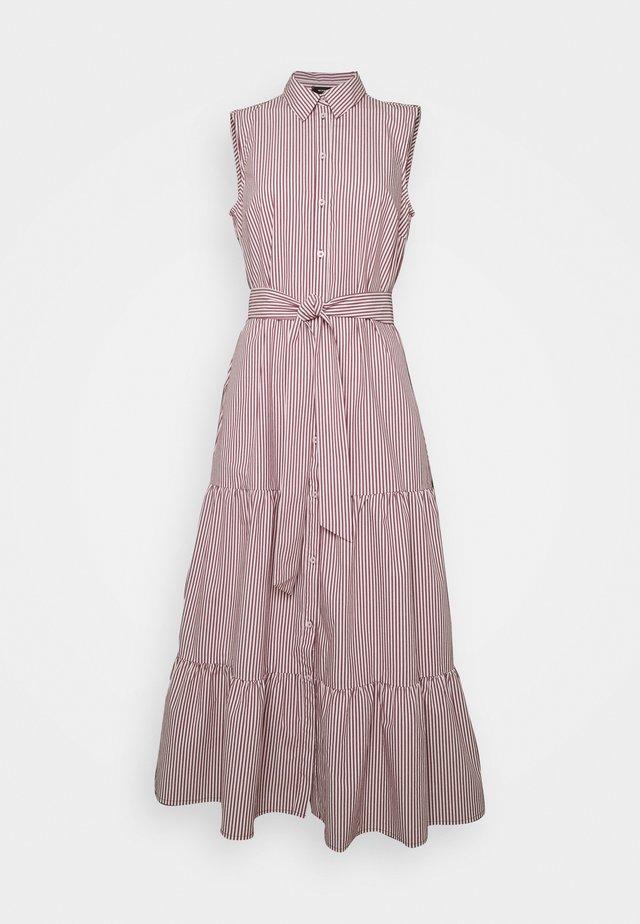 DRESS - Sukienka koszulowa - dark cherry