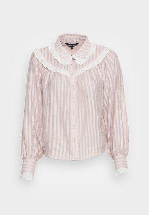 GARDEN PEARL RUFFLE BLOUSE - Blouse - pink