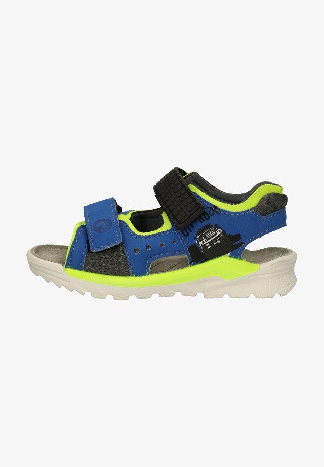 Walking sandals - azur/neongelb/grau 153