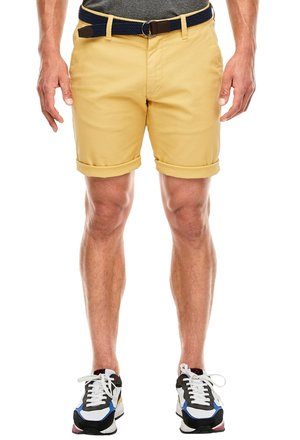 BERMUDA WITH BELT - Shorts - yellow