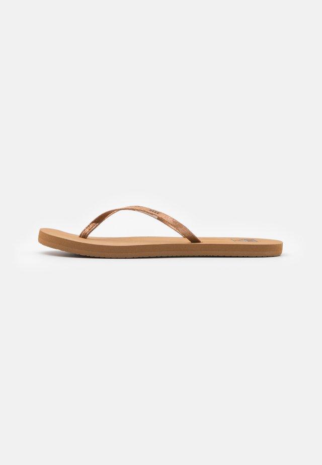 BLISS NIGHTS - Flip Flops - copper