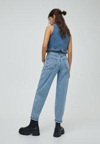 PULL&BEAR - Jeans a sigaretta - mottled dark blue - 2